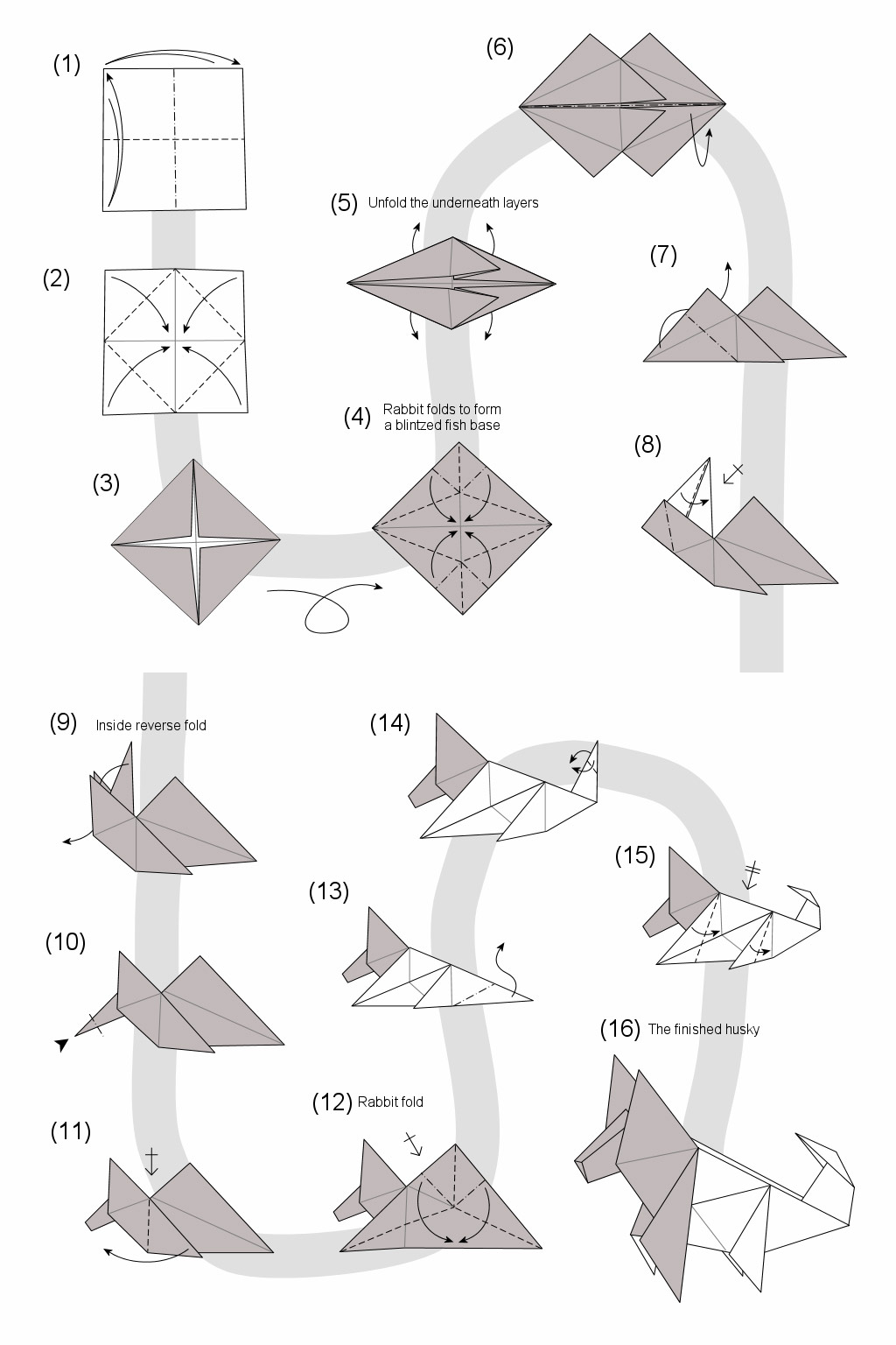 Схема оригами картинка