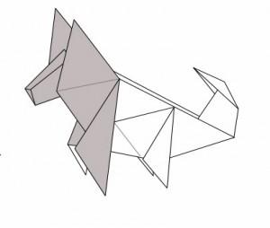 Оригами Сибирский Хаски